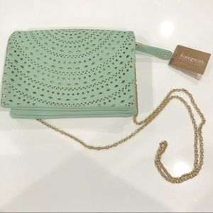 Francesca's Mint Crossbody with Gold Details